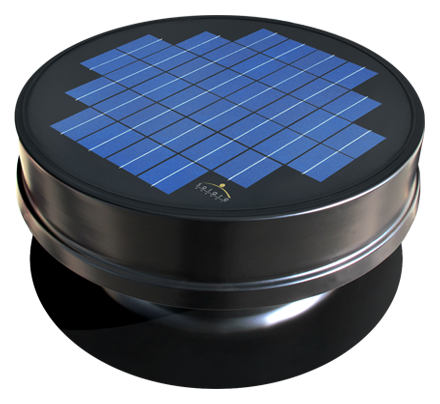 Solaro Aire™ solar powered attic fan embedded series features a 20 watt solar panel built into the attic fan for maximum performance. Removes heat and mold from your attic.