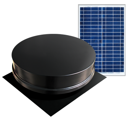 Solaro Aire™ solar powered attic fan remote series features a 20, 30, 40, or 50 watt remote solar panel that can installed separately from the attic fan for the ideal location on the roof. Removes heat and mold from your attic.