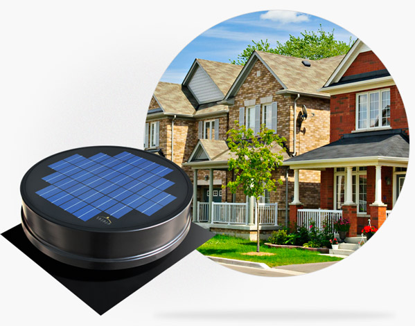Learn all about the detailed specifications of the Solaro Aire, solar powered attic fan & gable attic fan.
