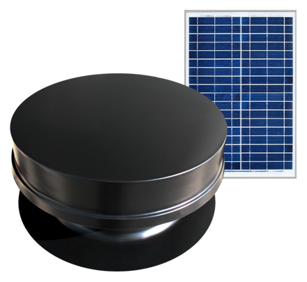 Solaro Aire™ solar powered attic fan remote series features a 20,30,40 watt solar panel to increase performance in shady areas. Great for installing the solar panel away from the attic fan.