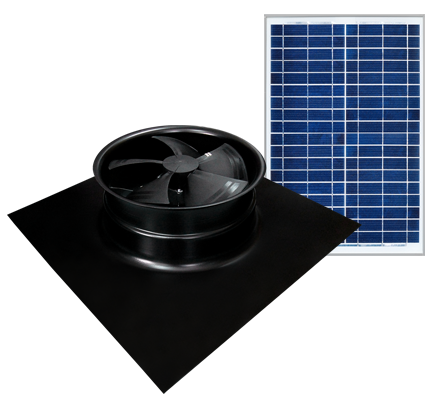 Solaro Aire™ solar powered attic fan Gable Series installs directly on an existing Gable vent. Remotely install the solar panel. The easiest attic fan installation around!