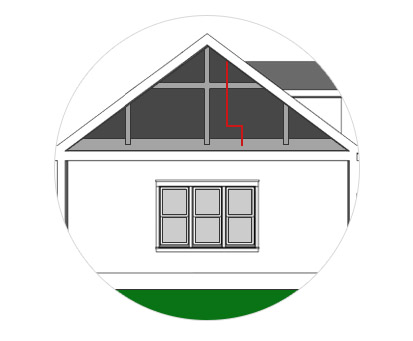 """The power is then transferred down through your attic to the Solaro Day™ using our durable interconnect cabling. A small ¼"""" diameter hole is all that's needed in the roof."""