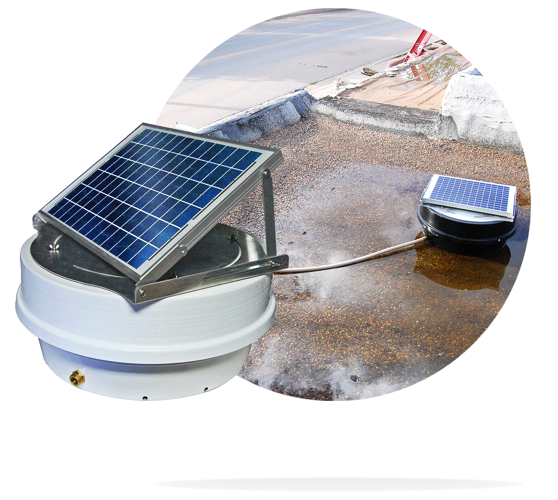 The Roof Bilge Pump will allow you to quickly and efficiently remove large puddles of water from on top of your flat roof!